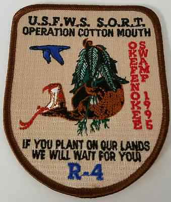 USFWS SORT Operation Cotton Mouth R-4 Okefenokee Swamp 1995 Cloth Patch