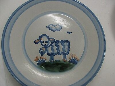 MA Hadley hand painted 11 in. Sheep Plate