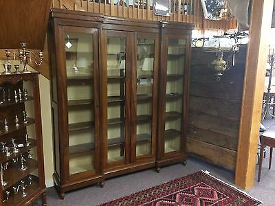 Wonderful French Library Bookcase Breakfront