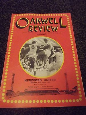 Oakwell Review Programme (Rare) 16/04/1979