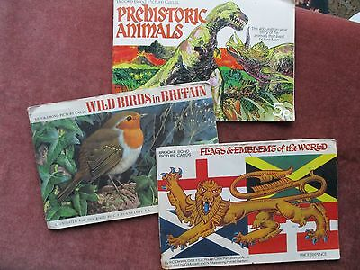 3 Brooke Bond Tea Card Albums, Flags ,Birds , Animals.