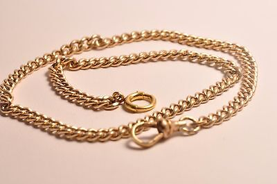 Antique yellow gold filled pocket watch chain fob 13inches