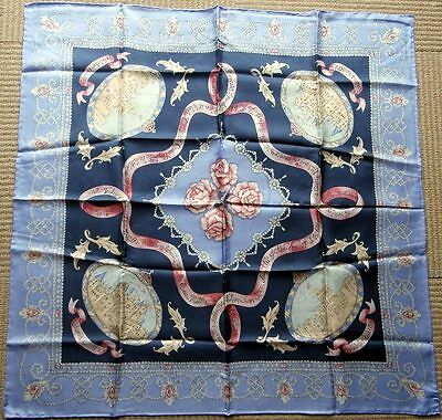 Past Times Queen Mothers 100th Birthday Vintage Silk Scarf Pearls & Diamonds