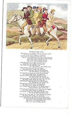 569  PC WIDDECOMBE FAIR SONG CARD UNPOSTED c1920