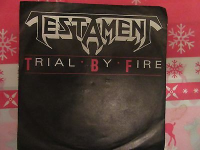 """Testament  – Trial By Fire 7"""" promo"""