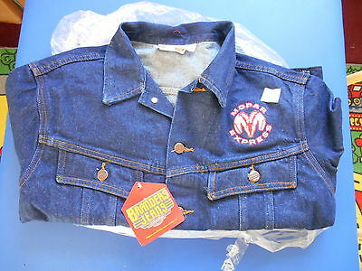 "NOS ""Mopar Express"" Jeans Jacket - Size 44 Regular -Last One In Stock"