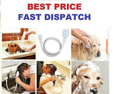 Pet Dog Shower Spray Hose Indoors Bath Tub Sink Faucet Tap Attachment Washing