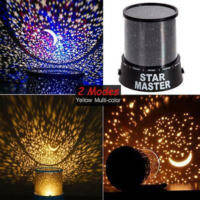 Romantic LED Cosmos Star Master Sky Starry Night Projector Bed Wall Lamp Gift CB