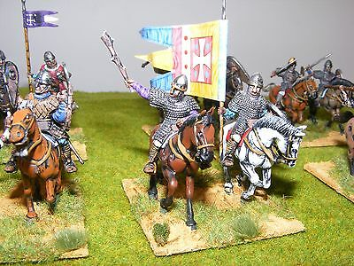 16  28mm Mounted Norman Knights