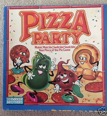 1987 PIZZA PARTY Parker Brothers Board Game 100% COMPLETE