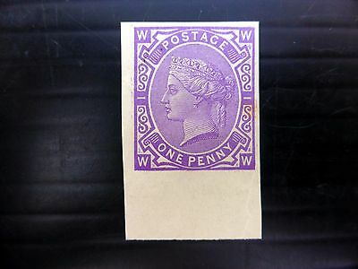 GB Queen Victoria 1d Purple Essay Mounted Mint FP9053