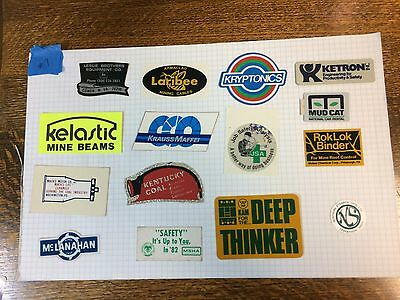 Coal Mining Stickers (15)  Coal Mining & Longwall,  Hard Hat Stickers, Decals