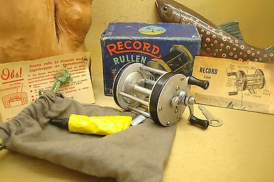 Vint/rare '53 Record 1900 Early Ver Jeweled Caps W/box Sweden  Pre-Abu Collect!