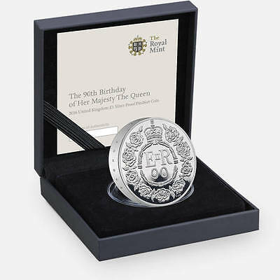 The Royal Mint - Queens 90th Birthday Silver £5 Coin