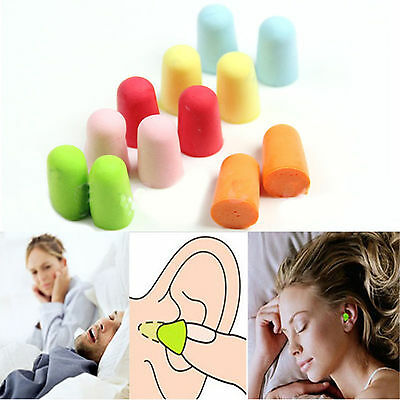 5 Pairs Soft Boxed Sleeping Noise Prevention Foam Ear Plugs Tapered  Sponge Set