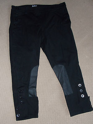 Ladies black BARBOUR 3/4 Breeches Stretch Horse Riding