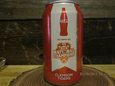 Clemson Tigers National Championship Coca Cola Coke Can 2016 unopened