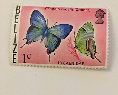 Belize 1c Stamp Lycaenidae The last Regalia Butterfly Postage Stamp