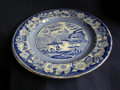 Old Willow Pattern | No Back Stamp | Dinner Plate | 25.5cm | Blue White