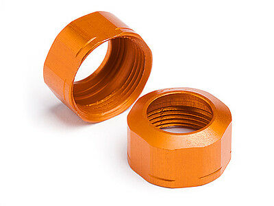 HPI Shock Cap 12Xm13X0.8mm (Orange/Grooved/2Pcs) - Nitro 3 Drift