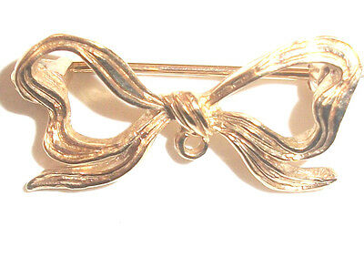 To good To Scrap Gold 9ct Gold 375 Vintage Bow Brooch approx 2.6 grms