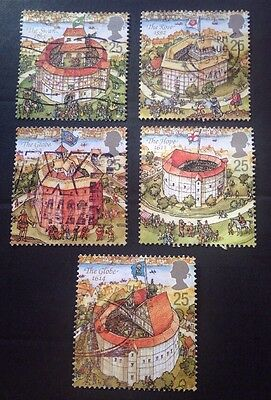 COMMONWEALTH - GB 1995 RECONSTRUCTION of SHAKESPEARE'S GLOBE THEATRE Set(5) Used