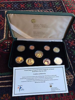 9 Coin Set 2009 Ireland 10th Anniversary Euro Proof Coin Set 2 x€ 2 coins in set