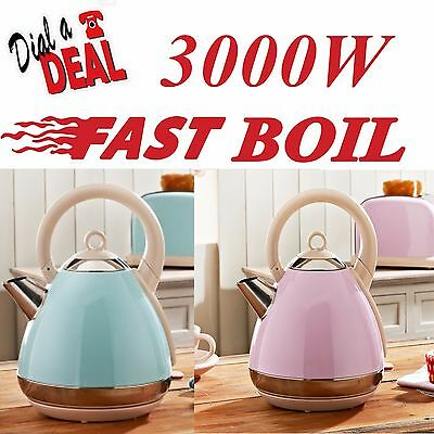NEW Prolex Pastel  Kettle 1.7L - PINK 3000W FAST BOIL  STAINLESS STEEL
