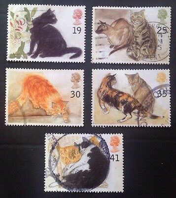 COMMONWEALTH - GB 1995 CATS   Set (5) Used Stamps
