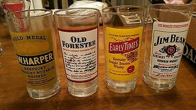 4 Whiskey Collins Style Glasses Made in France