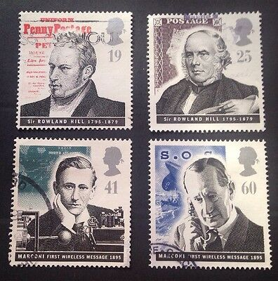 COMMONWEALTH - GB 1995 PIONEERS of COMMUNICATIONS Set (4) Used Stamps