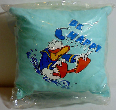 DISNEY DONALD DUCK VTG 80's 6'' LIGHT GREEN SOFT PILLOW w/ CORD UNUSED SEALED