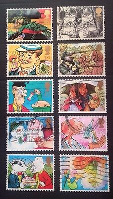 "COMMONWEALTH - GB 1993 GREETINGS Stamps ""GIFT GIVING""  Set (10) Used Stamps"