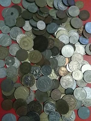 VINTAGE COLLECTION of OLD WORLD COINS lot B