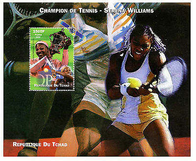 Chad 2002 MNH Serena Williams Tennis Champion 1v M/S Sports Stamps