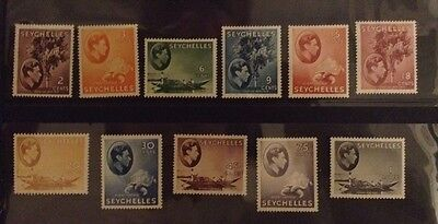 Seychelles 1938 - 1949 Mounted Mint Stamps