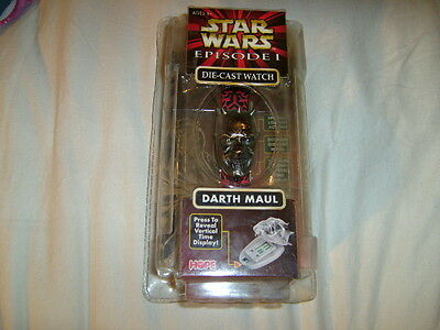 New Star Wars Episode I Darth Maul Die-Cast Watch Will Need Battery