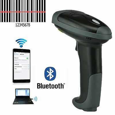 Wireless Bluetooth Barcode Scanner Cordless For iPhone Android Windows Tablet