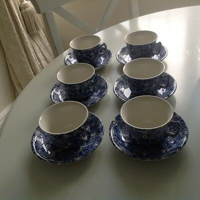 Lovely Laura Ashley Chintzware Made In Staffordshire  6 Cups And Saucers .