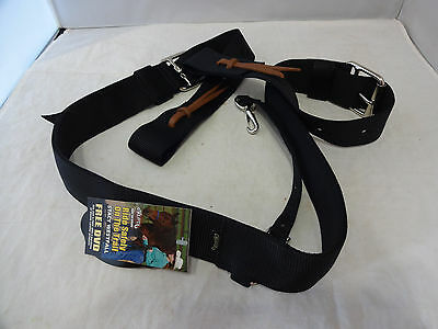 Weaver Leather Nylon Western Back Cinch Complete BLACK Saddle Horse Billets New