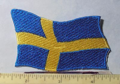 PATCH ~ SWEDEN ~ WAVY FLAG ~ iron on
