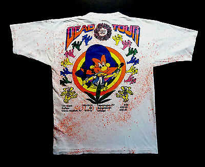Grateful Dead Shirt T Shirt Looney Tunes Yosemite Sam Marijuana 1992 Summer Tour