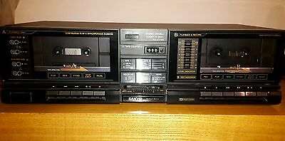 Sanyo RD W7120 lettore musicassette architect series