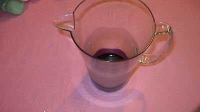 Tupperware #4603 Sheerly Elegant Collection Acrylic 2qt Pitcher  Amethyst Purple