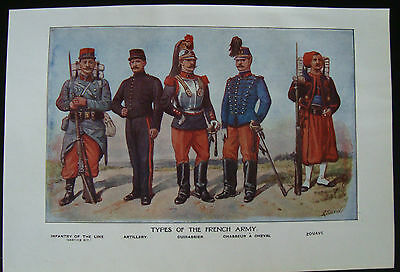 WW1 Print Types Of The French Army