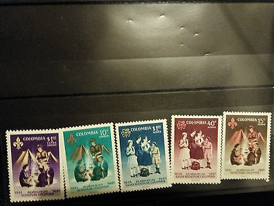 Timbres Colombie 1962 Set complet Neuf ** MNH
