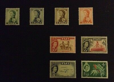 Fiji 1959 - 1963 Selection Of 8 Stamps