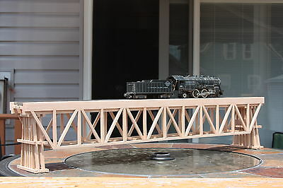 "S Gauge handmade wood trestle bridge 351/2 "" long w/ bents for American Flyer ."