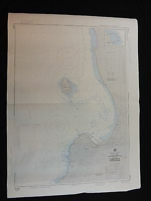 Vintage NOAA Nautical Chart Table Bay South Africa 17th Ed 1982