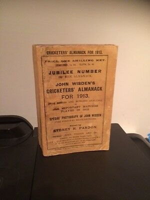 Wisden Cricketers' Almanack 1913 Jubilee Edition
